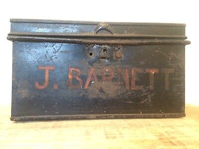 Antique London Made Deeds Metal Box