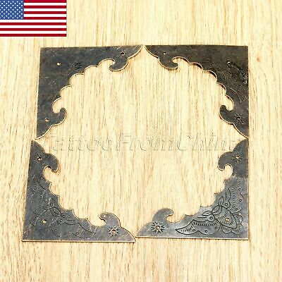 4Pcs Antique Decorative Furniture Jewelry Box Corner Protectors Edge Bracket US