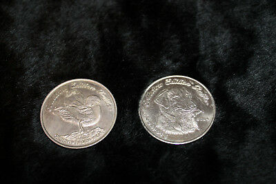 2001 and 2004 Ducks Unlimited Raffle Coins