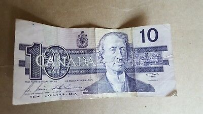 canada currency 10 dollars p833