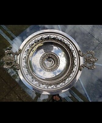 antique silver plated fruit bowl