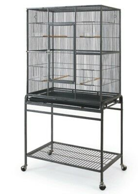 36in Tall Large Bird/ Pet CageW/Door and Rolling Stand Large Birds and Small