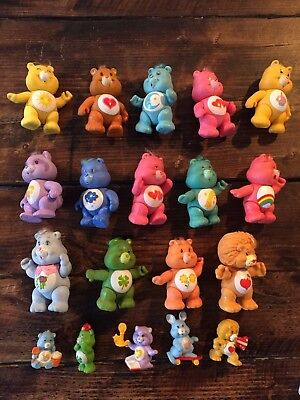 Original Vintage Set Collection Care Bears  x 14 large and 5 x small 1980