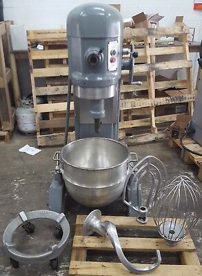 Hobart H-600 60 QT Mixer w/ Bowl, Dolly, Paddle, Dough Hook, & Whisk