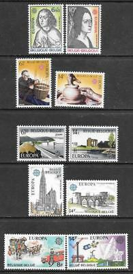 BELGIUM - 5 x Europa Sets, MNH - 1975-1979 Issues