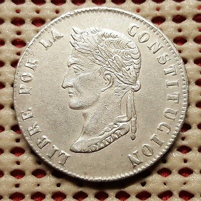 1855/4 PTS MJ Bolivia 8 Soles Silver Coin KM 112.2 Higher Grade Nice Coin