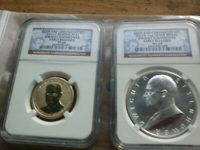 Dwight Eisenhower coin and chronicles set NGC EARLY RELEASE