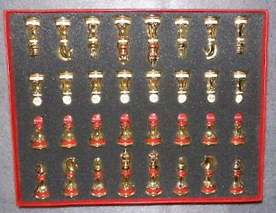 Franklin Mint Coca-Cola Stained Glass Chess Game Set 24K Gold Plated - Rare Find