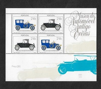 PORTUGAL 1992 Antique Car Museum, mint mini sheet, MNH MUH