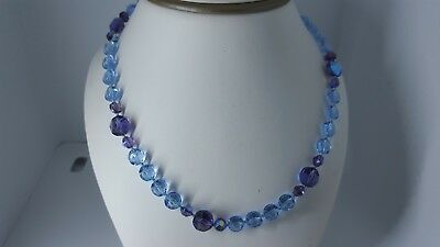 Gorgeous Austrian Crystal  Light Sapphire  And Cardinale Purple Crystal Beads