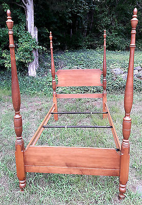 Twin 4 Poster Bed with Canopy top NH Maple wood