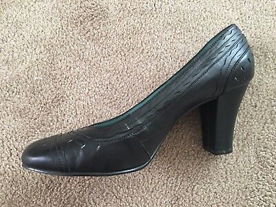 Hush Puppies Women's Business/Formal Black Leather Heel Court Shoes UK8