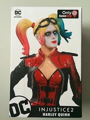 Gamestop Exclusive Injustice 2 HARLEY QUINN Statue BRAND NEW DC Universe DCU