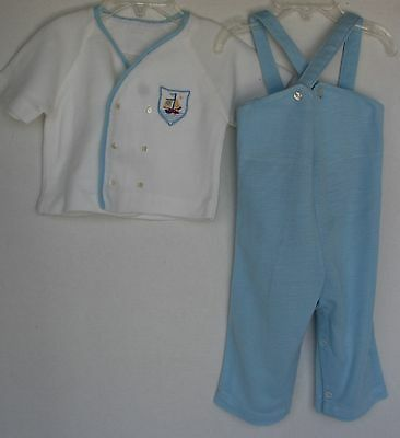VINTAGE 1970's Jumper & Sweater Outfit Infant Boys Size 12 Months