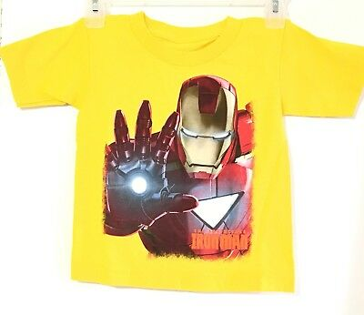 Marvel The Invincible Iron Man Yellow Color  Graphic T Shirt SIze 4T