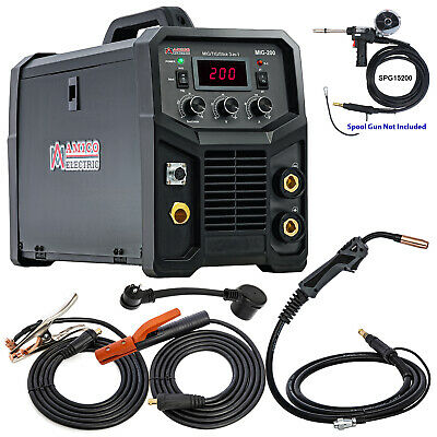 TIG-200DC, 200 Amp TIG-Torch, Stick Arc DC Welder, 115/230V Dual Voltage Welding