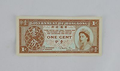 Hong Kong One Cent Note - Paper Money / Circulated