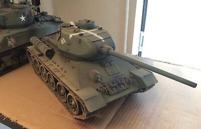 Modified/ Detailed 1:16 2.4GHz T34/85 Soviet RC Tank BB Shoot Smoke & Sound WW2