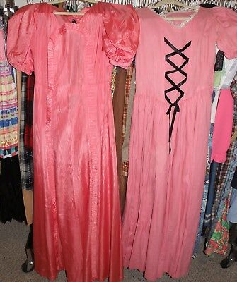 """Vintage Lot Of Two 1930's Dresses, Small/medium, Bust 34"""", Need Work"""
