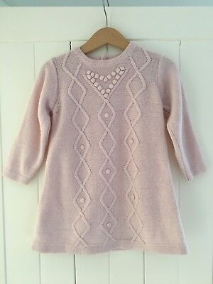 Next Pink Cable Knit Dress 12-18 Months