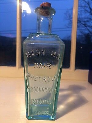 Antique Hair Medicine - Noonan's Hair Petrole - Boston -Crisp Example - Nice
