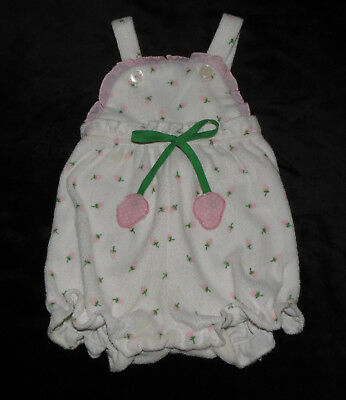 Sweet Vintage Baby Girls Floral Terrycloth Sunsuit Romper Approx 3-6 Months Euc