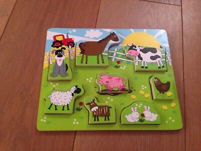Wooden Farm Animal Puzzle - Marks & Spencer. Vgc