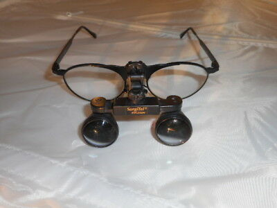 High Quality SurgiTel Dentist Loupe Glasses EVC250N 50-18 GSC-Z87 Great Buy!