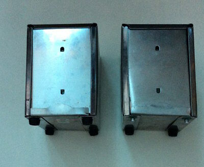 2 X Two Sided Stainless Steel Napkin Dispenser Holder MUST SEE !!!