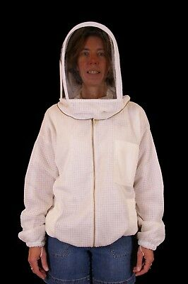 Professional Beekeeping Ventilated Jacket with Fencing Veil - Small