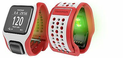 TomTom Runner Cardio GPS Watch & Graphical Training Partner - Red / White
