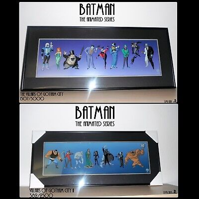 Villains of Gotham City Sericel Limited Edition Set: Batman Animated