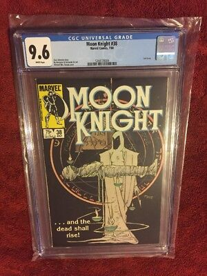 Moon Knight #38 Marvel Kaluta Final Issue 1984 CGC 9.6 NM+ White Pages