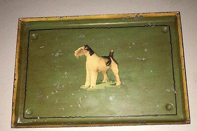 Vintage Airedale (Fox) Terrier Kitchen Beautilities Metal Tray from Kansas City