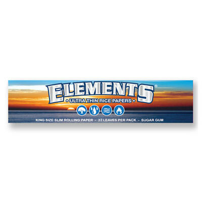 Elements Ultra Thin Rice King Size Slim Rolling Papers 33 Leaves