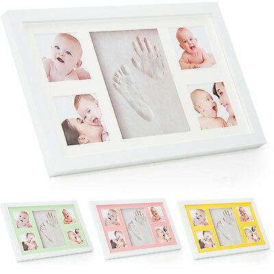 Baby Hand and Footprint Photo Frame Kit ® Babyboon | 4 COLOURS IN ONE PACK