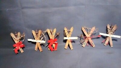 Lot of 6 Ski Christmas  ornaments