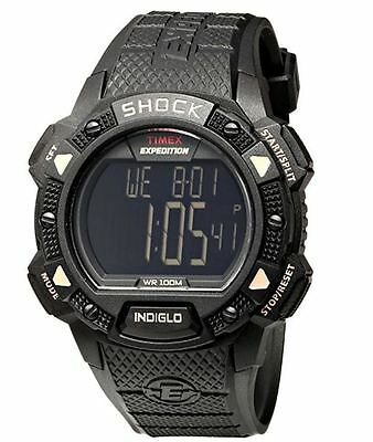 New! Timex Men's T498969 Black Digital Expedition Shock Cat Watch Wr100 Meters