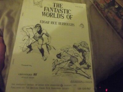 The Fantastic Worlds 0f Edgar Rice Burroughs 16/171987 British ERB Fanzine