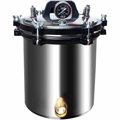 4.7 Gal 18L Steam Sterilizer Portable Autoclave Electric Stainless Steel Heated
