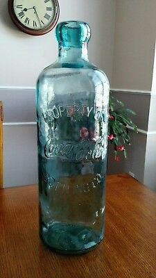 "RARE 20"" Embossed Property of Coca-Cola Bottling Co. Glass Hutchinson Bottle"