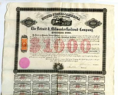 1866     Michigan Revenue Railroad Bond