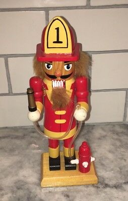"Nutcracker Hand Crafted & Painted Wood ""Station #1 Fireman"" Nutcracker"