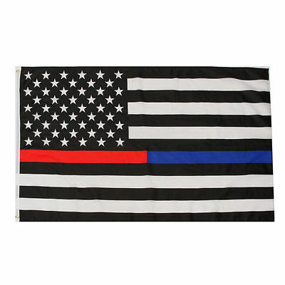 Thin Red Blue Flag 3x5 ft USA Respect Honor Fire Fighter Police Officer Law LEO