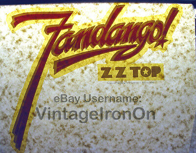 Rare ZZ TOP 1975 COUNTRY SOUTHERN ROCK UNUSED Orig VTG t-shirt iron-on NOS