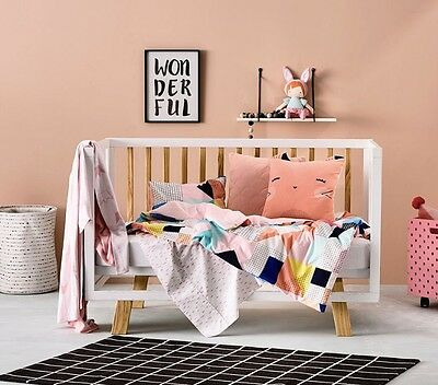 adairs kids PINK DARCEE cot quilt cover set RRP $99.95