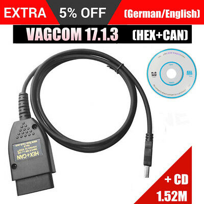 Usb Diagnostic Cable Vag-Com 17.1.3 Hex+Can Usb Vcds For Audi Vw Seat Skod M2