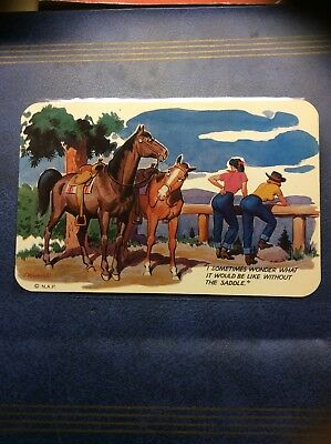 Vintage Postcard Fred Rodewald Lithograph 1950s Mint Condition