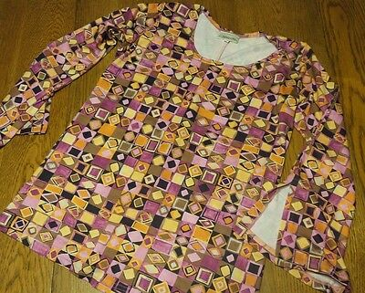 ANNA CRIS Size Small Multi-color Maternity Top Long Sleeve Stretch
