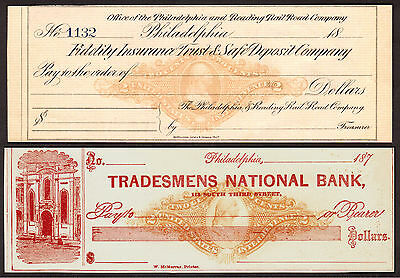 US Revenue Stamps: RN-J4, RN-J11, Unused Philadelphia Draft/Check, 1800s
